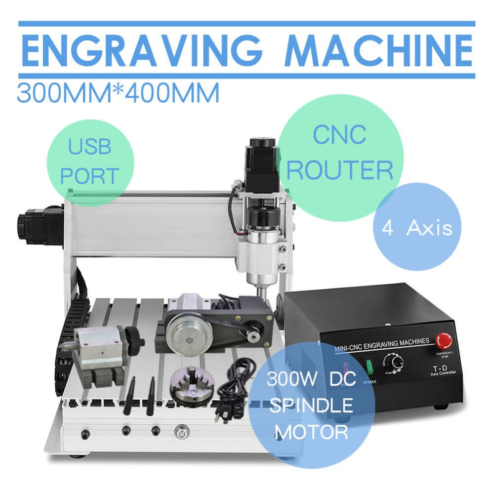 CNC 3040 Engraver 4 axis Engraving Machine for multifunctional wood engraving milling metal engraving machine 3040 engraver 800w cnc machine to eu country free tax