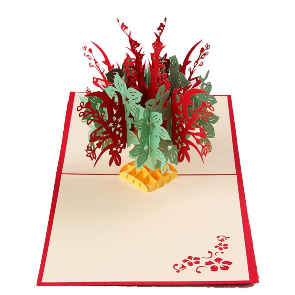 Fantastic flower handmade kirigami origami 3d pop up greeting fantastic flower handmade kirigami origami 3d pop up greeting cards for birthday free shipping set of 10 on aliexpress alibaba group mightylinksfo