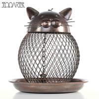 Tooarts Cat Shaped Bird Feeder Cat Shaped Vintage Handmade Outdoor Decoration Villa Garden Decoration Hanging Style