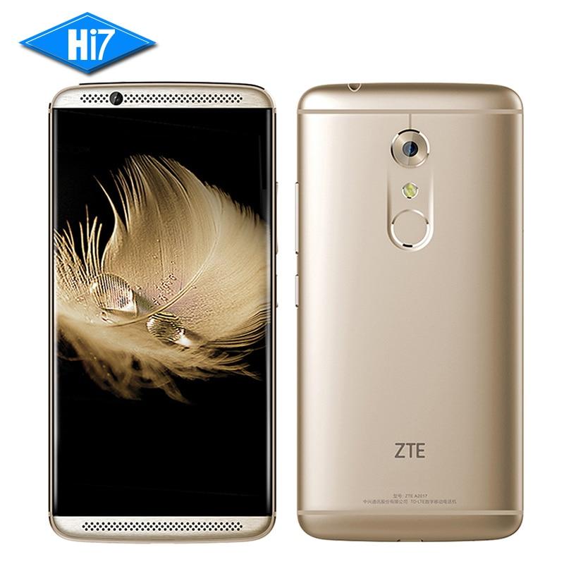 New Original ZTE AXON 7 6GB RAM 128GB ROM Mobile Phone Android 6.0 Snapdragon 820 Quad Core 20.0MP 5.5 inch Fingerprint 3250mAh