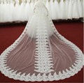 Luxurious one layer white ivory Sequins lace edge Long bridal veils Cathedral length long wedding veil bridal accessories Veil