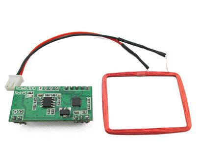 Free shipping UART 125Khz EM4100 RFID Card Key ID Reader font b Module b font RDM6300