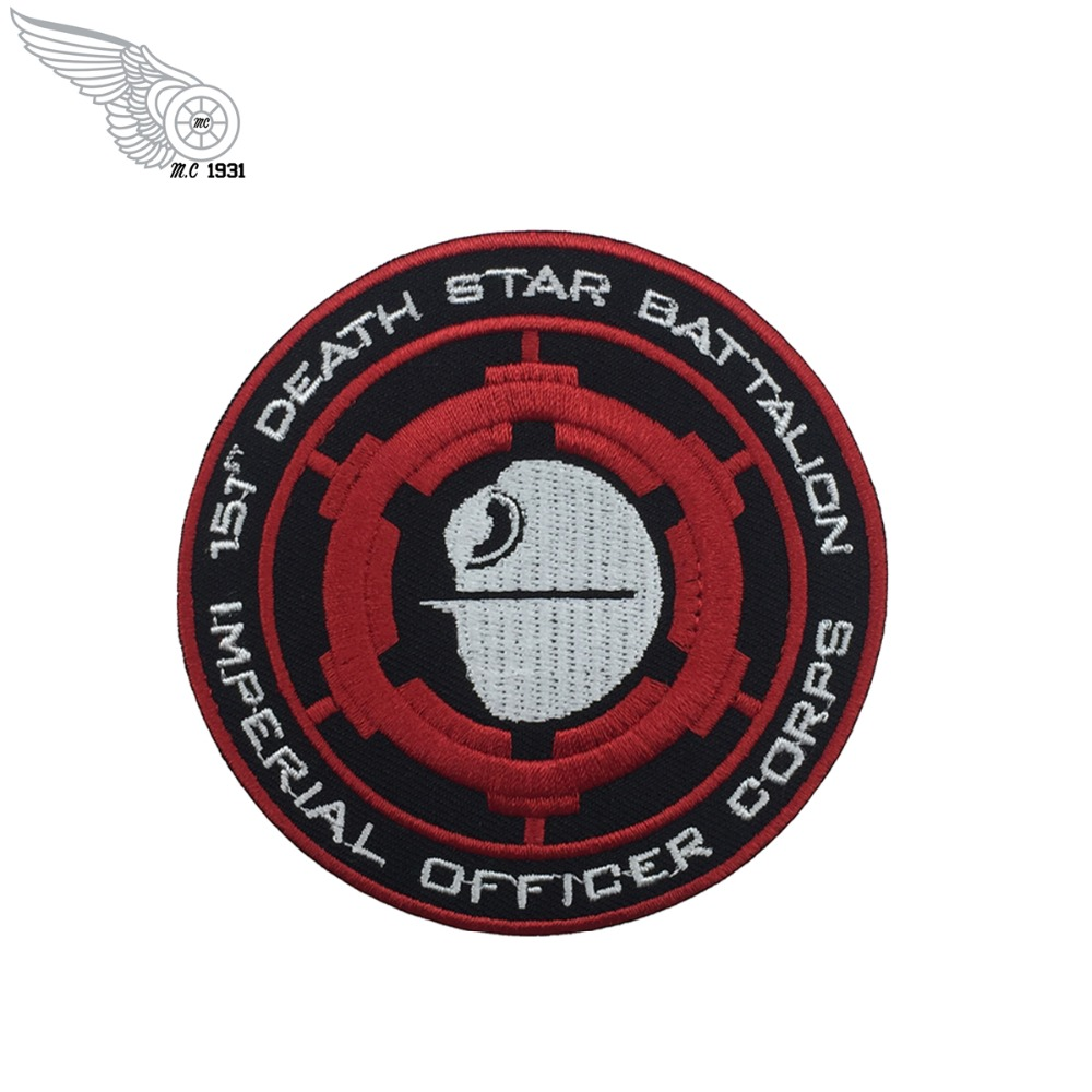 Star Wars Deathstar Easy Iron On Patch Applique Transfer Sew death star