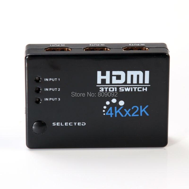 2 Karat Hdmi Switch Hub Splitter Switcher Adapter Hd Für Hdtv Ir-fernbedienung Reich Und PräChtig 3in 1out 4 Karat