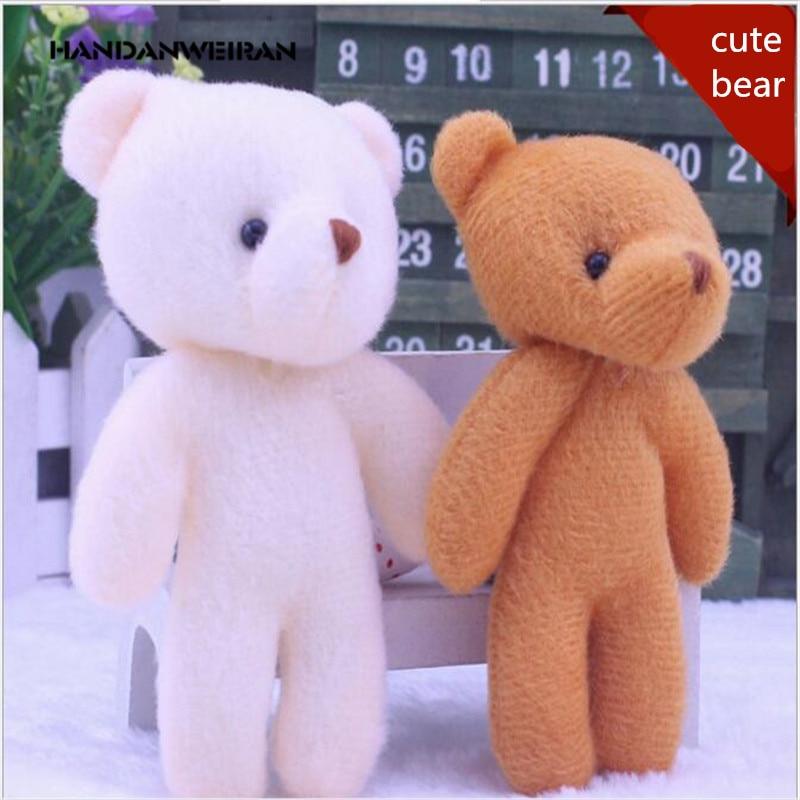 Wholesale 12PCS/lot 12Cm naked bear cartoon bouquet  dolls package flowers factory plush toys gift
