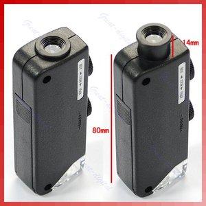 Image 1 - ミニハンドヘルド 60x 100x ポケット顕微鏡 magnifer ルーペ倍率ポケット顕微鏡ジュエリー拡大鏡