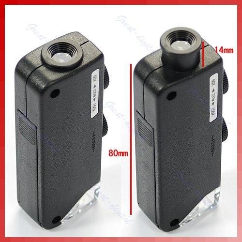 ミニハンドヘルド 60x 100x ポケット顕微鏡 magnifer ルーペ倍率ポケット顕微鏡ジュエリー拡大鏡
