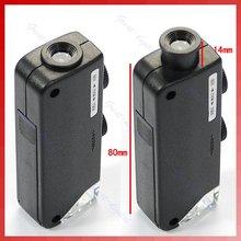 مجهر صغير محمول باليد 60x 100x مجهر جيب تكبير العدسة مجهر الجيب مجوهرات المكبر