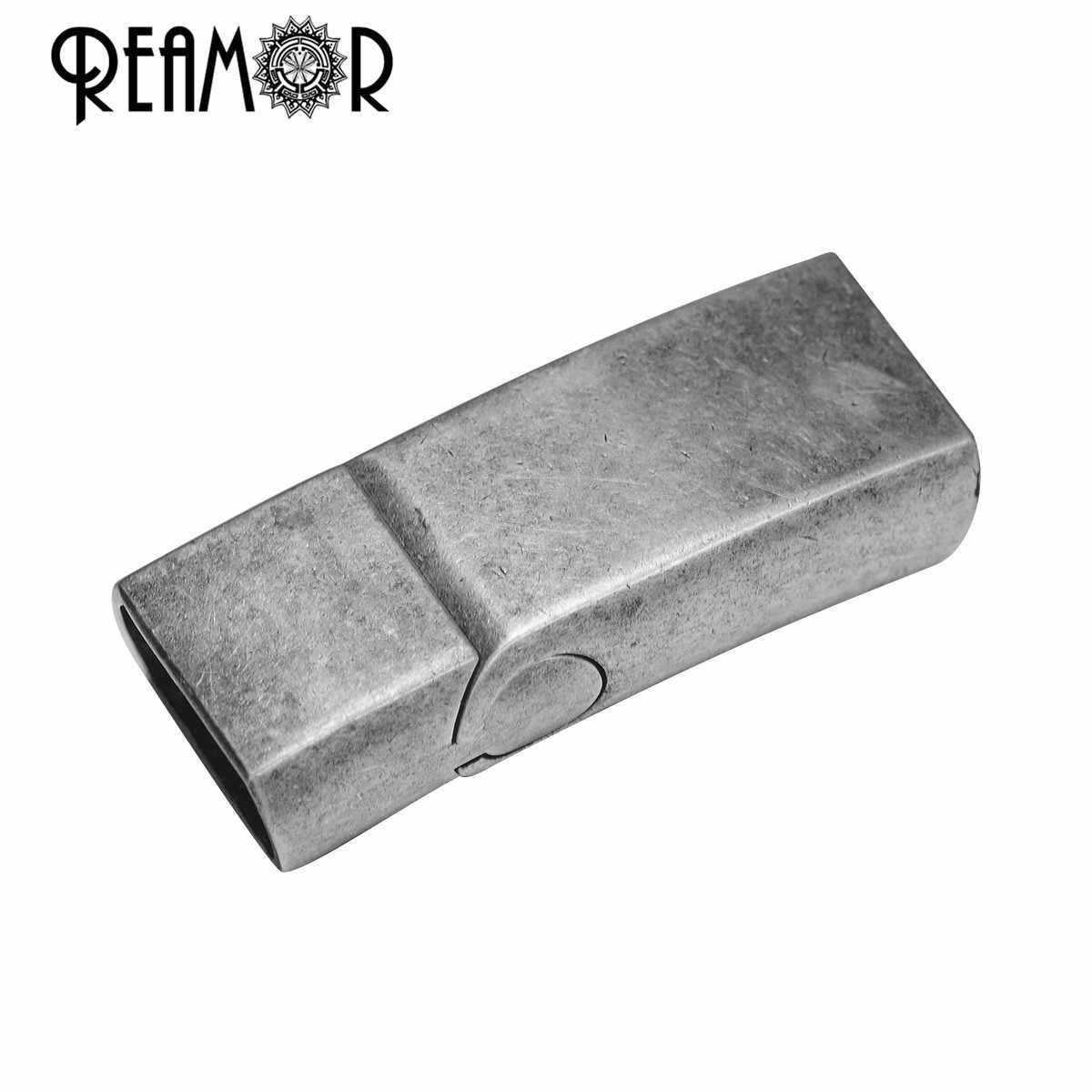 REAMOR 5 ชิ้น/ล็อต Retro 12*6 มม.สแตนเลส Clasp Magnetic สร้อยข้อมือสำหรับ DIY เครื่องประดับทำผลการค้นหา