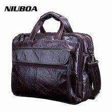 Модная мужская сумка из натуральной кожи, Натуральная воловья кожа, сумка через плечо, повседневная сумка, мужской портфель для ноутбука