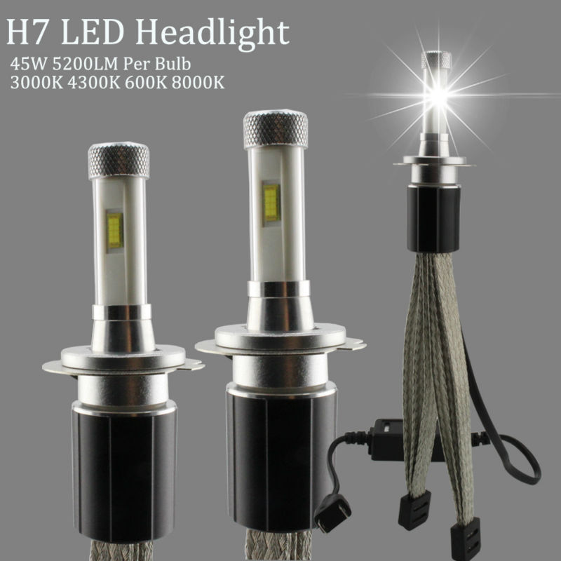 R4S LED H7 Headlights 4300K 3000K 6000K 8000K Car Headlight Bulbs 45W TX Automotive Customized Chip 5200LM Headlamp Fog Light askent s 7 1 tx