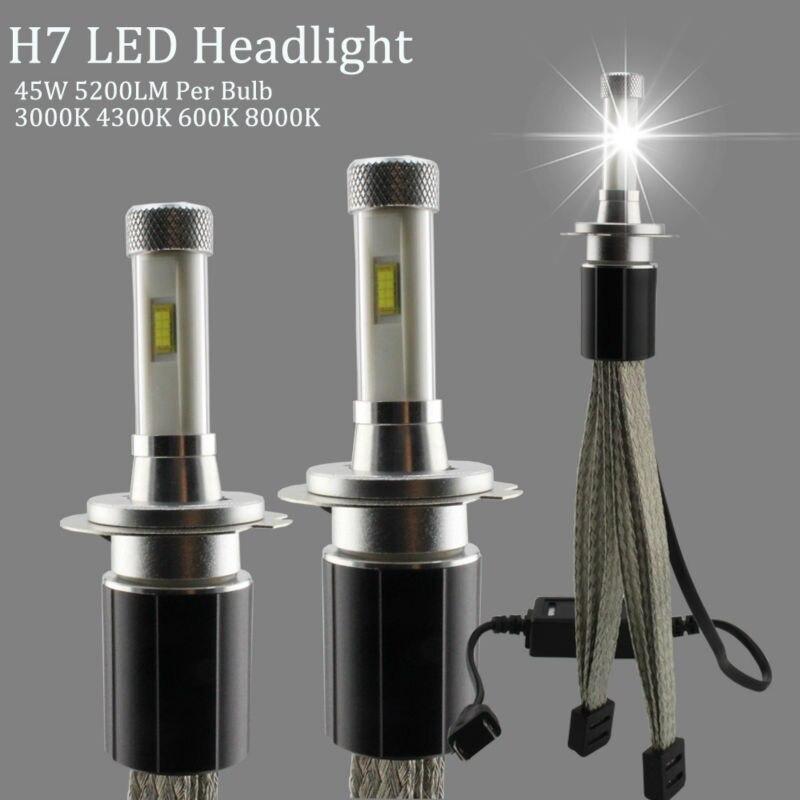 R4S LED H7 Headlights 4300K 3000K 6000K 8000K Car Headlight Bulbs 45W TX Automotive Customized Chip