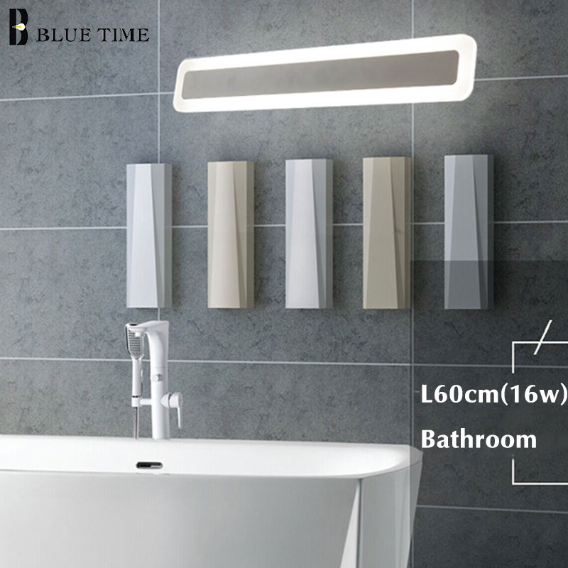 Image 2 - Acrylic Bathroom Mirror Front Light LED Wall Lamp Lustres For Bathroom Bedroom Wall Sconce Wall Lights Luminaria 120 100 80 60CM-in LED Indoor Wall Lamps from Lights & Lighting
