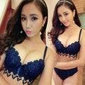 2017 Novo Estilo Japonês Doce Coração Borlas de Algodão Mulheres Empurrar Para Cima rendas Sexy Conjunto de Sutiã Moda Das Meninas Bonitos Conjuntos de Roupa Interior 6 Cores