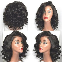 2016 Hot Sale Style Curly Wigs Synthetic Lace Front Wigs Black With Baby Hair Heat Resistant Brazilian Hair Wigs For Black Women