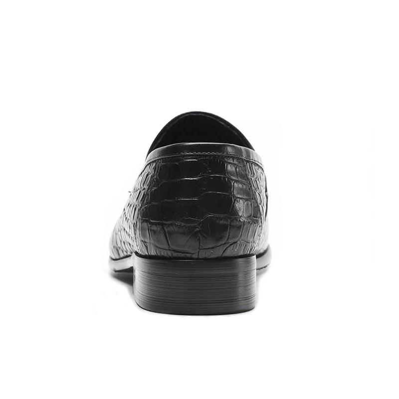 Altura marrom Casuais Britânico Rodada Sapatos Homens Crescente Dos Vestido De Partido Em Luxo Formal Toe Deslizamento Couro Ss268 Genuíno Homem Mocassins Flats Preto nawqOBAY