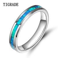 Hot Sale 100 Tungsten Carbide Ring Silver Blue Carbon Fiber Wedding Band Women Men Never Tarnish