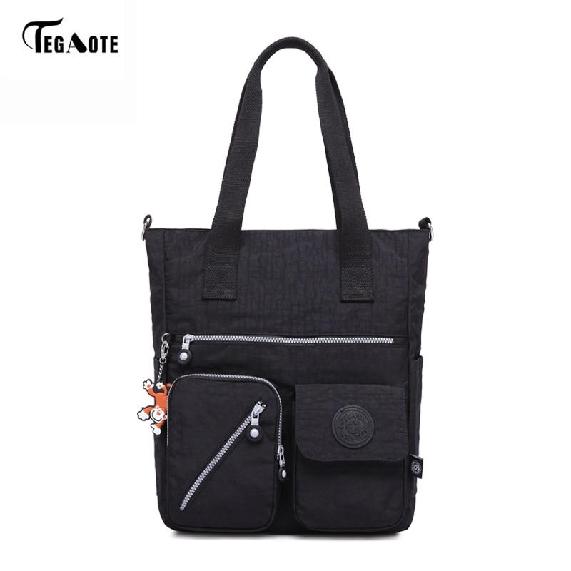 TEGAOTE New Women Top-handle Shoulder Bag Designer Handbags Famous Brand Nylon Female Casual Shopping Tote Bolsas Sac A Main