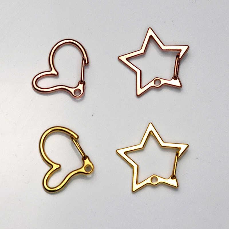 Alta qualidade moda ouro prata chaveiros anel diy jóias fazendo accessaries peças saco encantos chaveiro do carro trinket