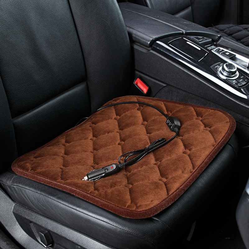 Aliexpress Buy Winter car heated cushion car office chairs electric heated seat cushion carbon fiber electric heating v from Reliable heated