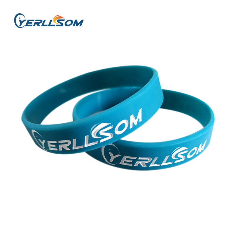 YERLLSOM 1000PCS Lot High Quatlity Custom silicone bracelets with engrave logo for promotional gifts S2019013001