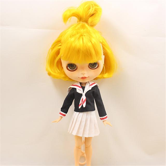 Neo Blythe Doll School Uniform White Skirt
