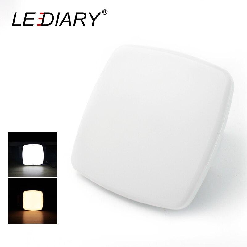 LEDIARY Super Lumineux Mini LED Plafond Lampe 220 v 15 w 15 cm Carré Armoire Lumière Pour Balcon/Porche vis Fixe Luminaire