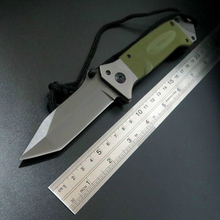 цена на New Arrival DA35 Folding Tactical Knives Survival Knife Outdoor Camping Tool Knives Steel Blade G10 Handle Knife EDC Tool