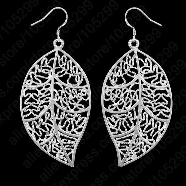 Sterling Silver leaves Hook And Leaf Jewelry Set