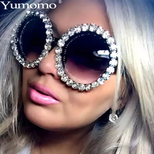 Yumomo Round Diamond Sunglasses Women 2019 New Fashion Luxury Brand Personlity Retro Red Colored Sexy Diamonds Female Eyewear