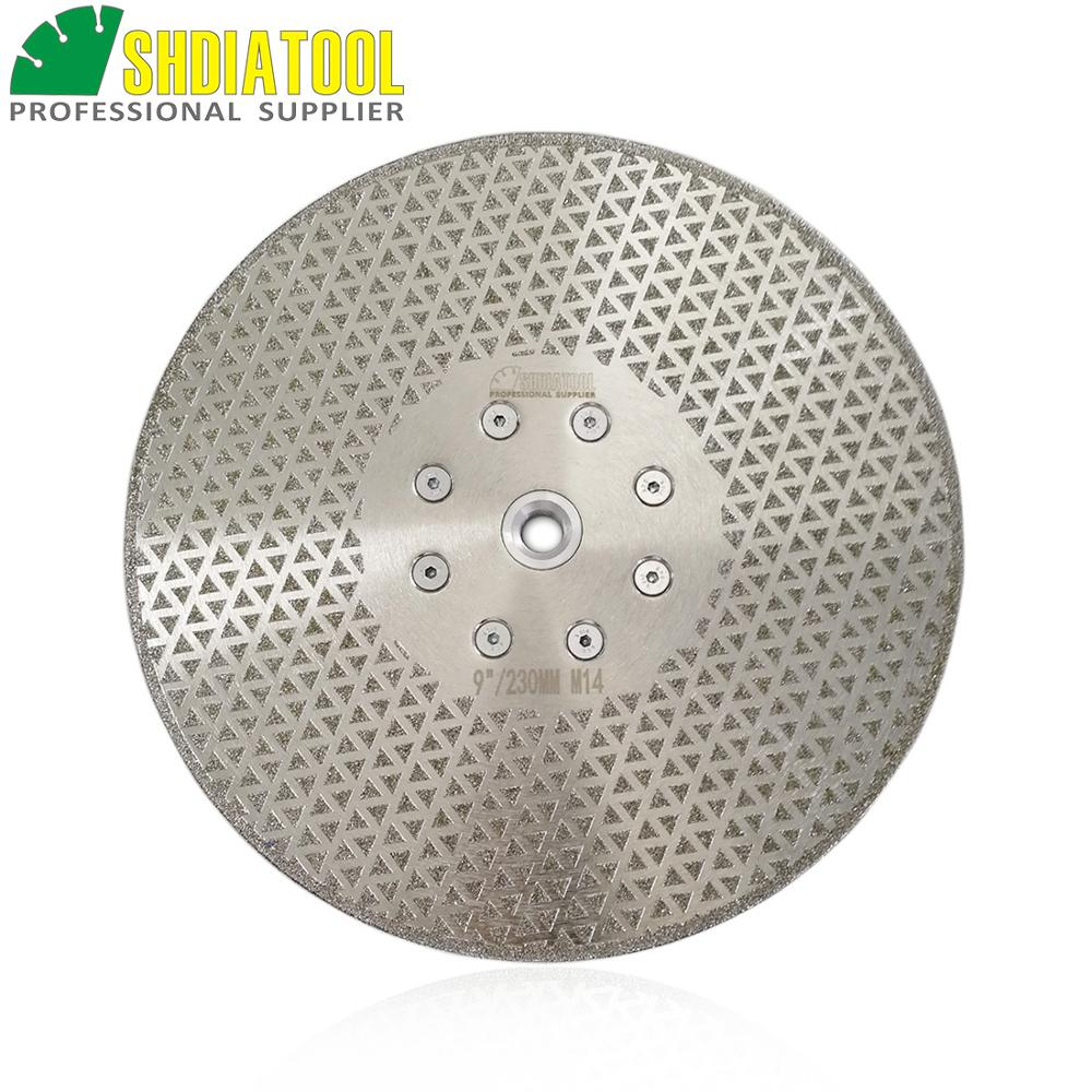 SHDIATOOL 1pc 230mm 9 Electroplated Diamond Cutting Grinding Blade Marble Diameter 9 Both Side Coated Sawblade