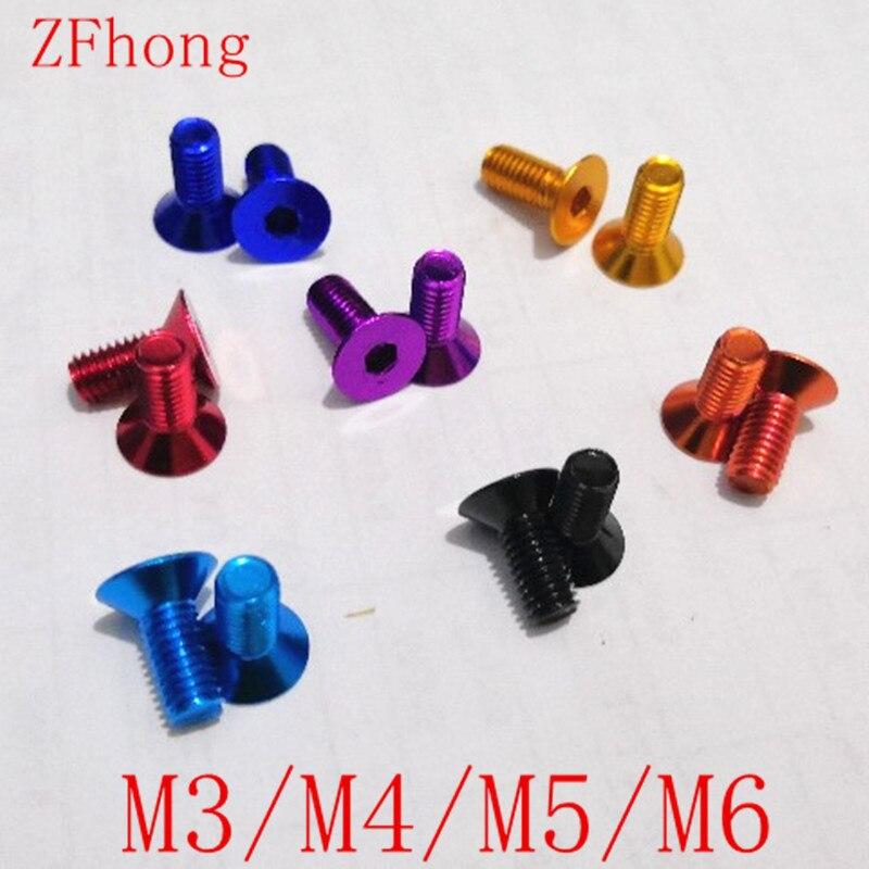 Aluminium Screws m4 x 10-25 Tapered Din 912 al7075 Red