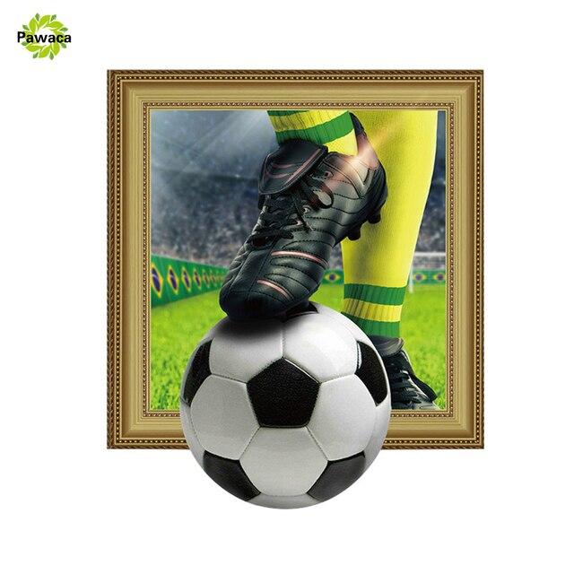 Piłka Nożna 3d żywe ściany Naklejki ścienne Soccer Do Pomieszczeń