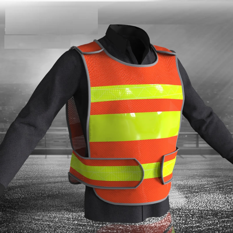 Customizable Reflective Crystal Lattice Construction Traffic Road Safety Mesh Vest With Free Logo Printing Free Shipping Workplace Safety Supplies