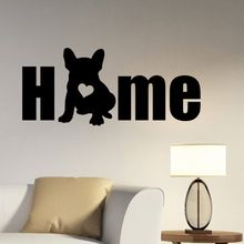 Dog Silhouette Wall Decal Removable Vinyl French Bulldog Sticker Animal Home Decoration Pet Salon Mural Poster AY480