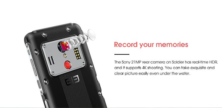 ELEPHONE Soldier 4 GB 128 GB IP68 8