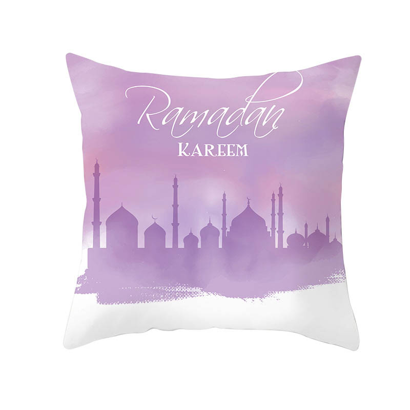 2pcs/lot 45x45cm Pillow Case Cover Cushion Cover Muslim Festival Ramadan Kareem Birthday Gift Calligraphy Waist Cushion EID