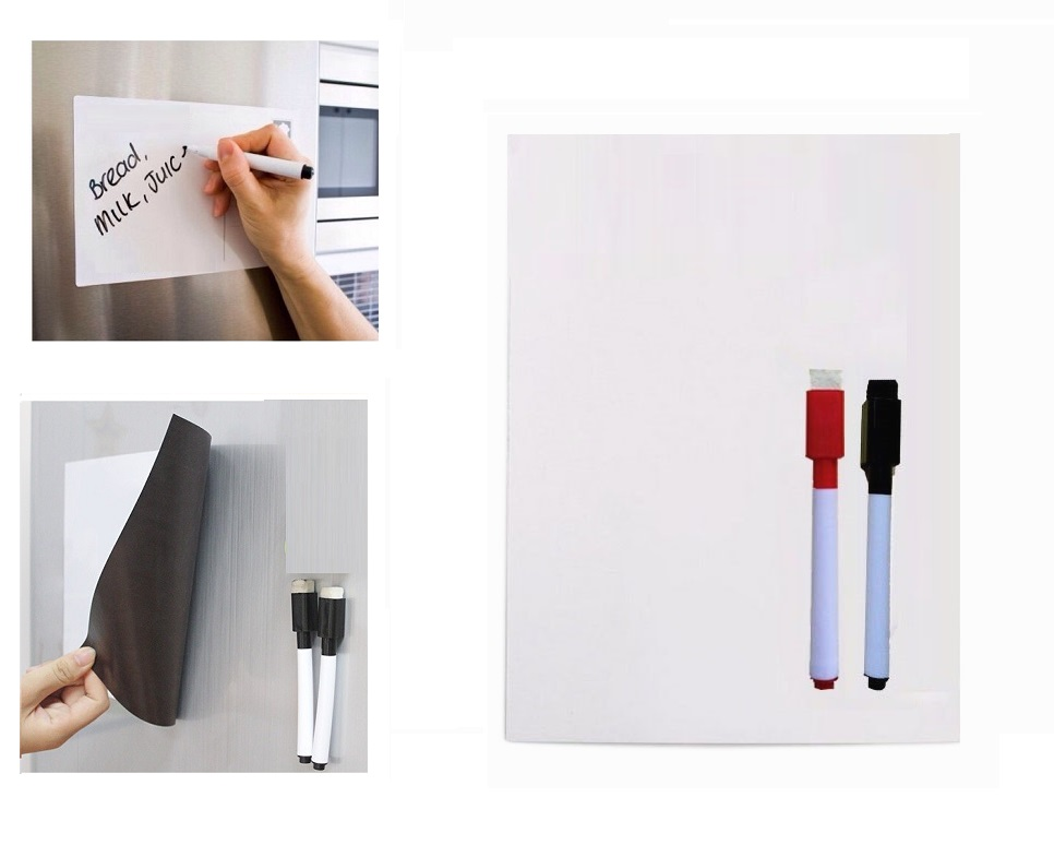 <font><b>A5</b></font> Size Flexible Magnetic <font><b>Whiteboard</b></font> for Fridge Magnets Vinyl Dry Wipe White Board Marker Record Message Board Remind Memo Pad image