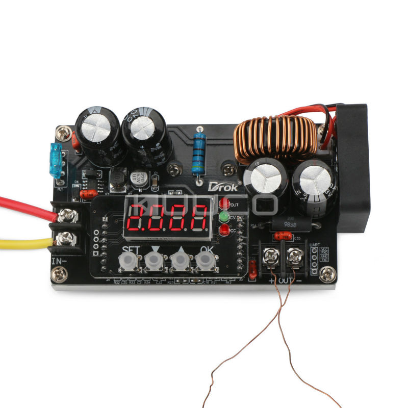 400W NC Voltage Regulator/Power Supply Module DC6~65V to 0~60V 8A Adapter /Charger + Voltmeter/Ammeter/Capacity Meter/Time Meter nc dc dc dc adjustable voltage regulator module integrated voltage meter 8a voltage stabilized power supply