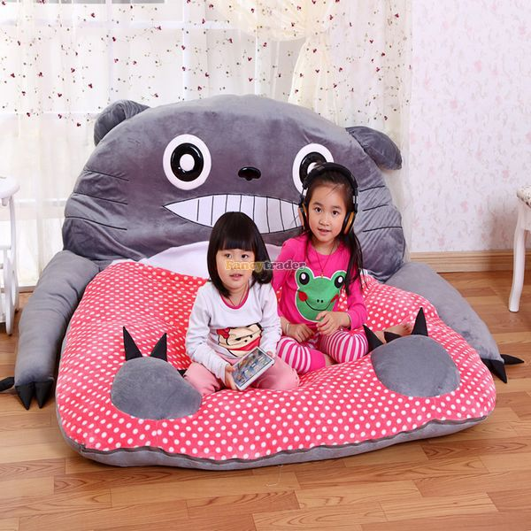 Fancytrader 220cm X 180cm Super Lovely Soft Huge Red Totoro Double Bed Carpet Tatami Mattress Sofa FT50327