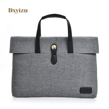 Fashion Solid Unisex Briefcases Simple Business package for women Handbag Laptop 14 Inch Notebook Computer Bags men Briefcases