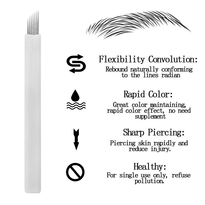 Tattoo Needles Blades 10Pcs 7Pin Микроқпағыз Қасқа - Тату және дене өнері - фото 1