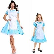 Косплей платье «Алиса в стране чудес» с фартуком