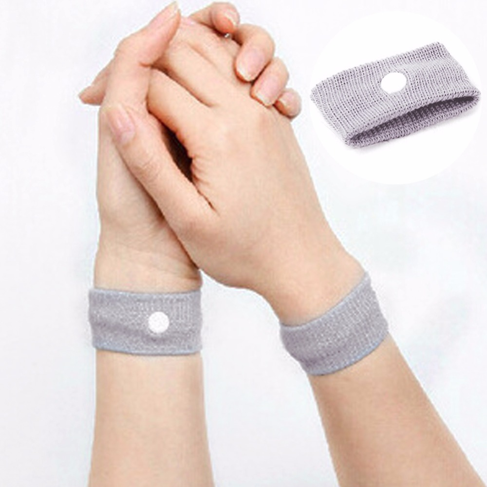 High Quality Reusable Anti Nausea Wristbands Travel Sickness Wrist Bands Prevention Motion Car Boat Sea Plane