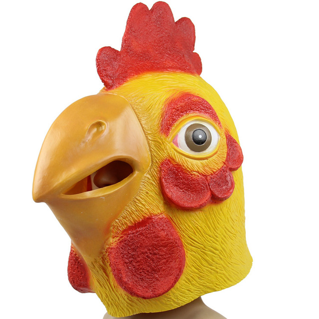 5 Pcs Lot Chicken Mask Head Full Face Halloween Party Prop Carnival Latex Rubber