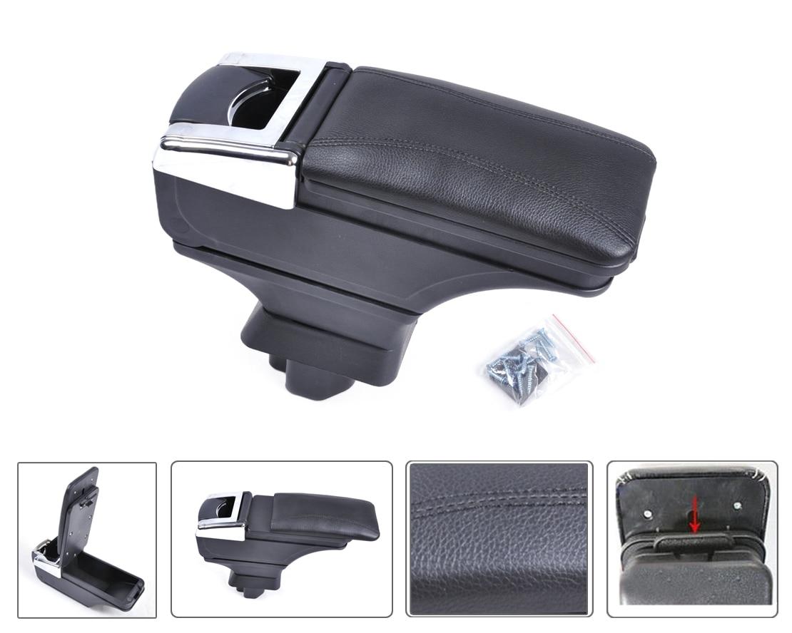 DWCX Car Leatherette Padding Black Storage Box Armrest Centre Console For Nissan Versa Tiida Latio 2007