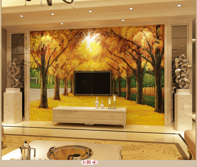 3d floor tiles Oil Painting living room TV background wall tile ...