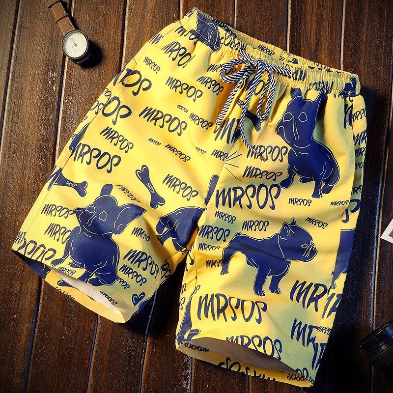 Men Short 16 Style Shorts Men Summer Bulldog Print Quick Dry Short Trousers Causal Drawstring Sportwear Male Shorts Plus Size