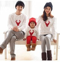 Family Look Christmas Clothing Deer Mommy And Me Clothes Matching Family Clothing Mother Daughter Father Baby