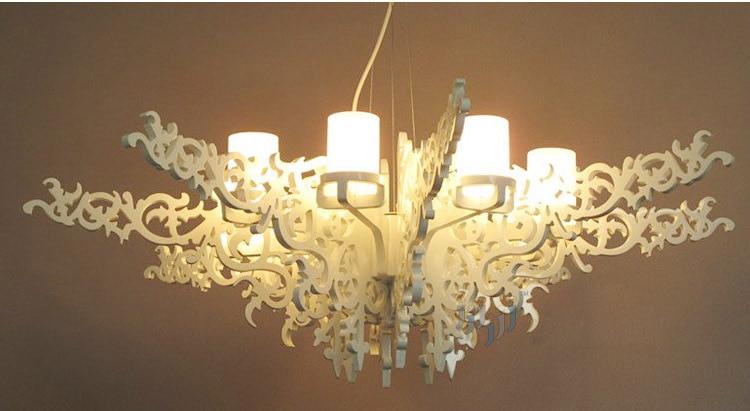 D51 X H17 8 Lichter Stilvolle Engelsflgel Kronleuchter Luxruy Wohnzimmer Suspension Lampe Treppen Hotel